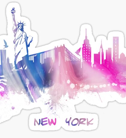 Skyline New York City Sticker