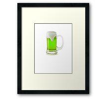Saint Patrick's Day green beer Framed Print
