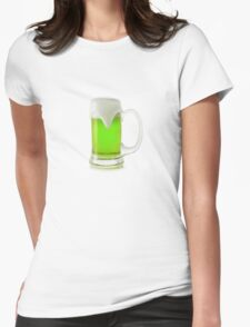 Saint Patrick's Day green beer Womens Fitted T-Shirt