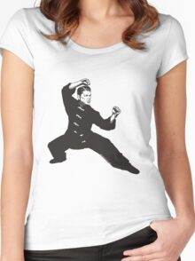 Kung Fu Reagan Women's Fitted Scoop T-Shirt