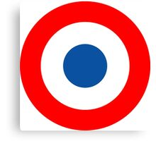 Roundel, Tricolore, cockade, French, Air Force, Bullseye, combat, aircraft, First World War Canvas Print