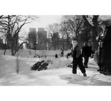 Sledding Photographic Print