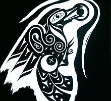 Raven Sun Serpent Moon by CapallGlas