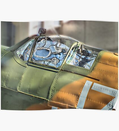 Spitfire Canopy - IWM Duxford - HDR Poster