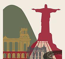 Rio de Janeiro skyline poster by paulrommer