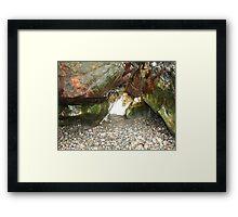 The Coloured Rocks Tiree Framed Print