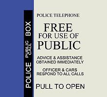 TARDIS Sign iPhone Case by belleparole