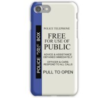 TARDIS Sign iPhone Case iPhone Case/Skin