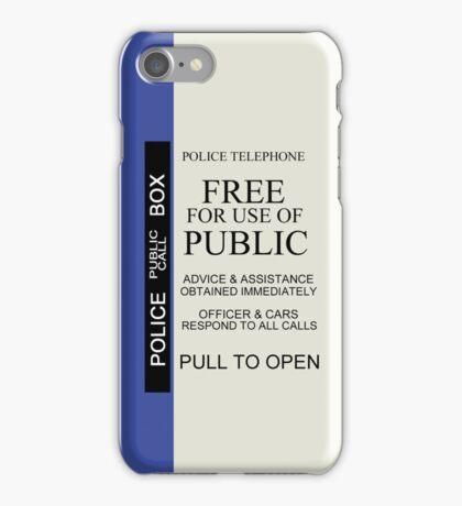 TARDIS Sign iPhone Case iPhone Case/Skin
