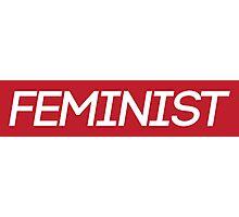 Red Feminist Logo Photographic Print