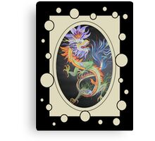 Chinese Dragon With Decorative Border Canvas Print