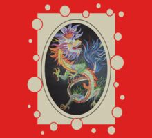 Chinese Dragon With Decorative Border One Piece - Short Sleeve