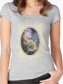 Chinese Dragon With Decorative Border Women's Fitted Scoop T-Shirt