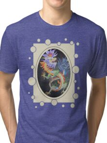 Chinese Dragon With Decorative Border Tri-blend T-Shirt