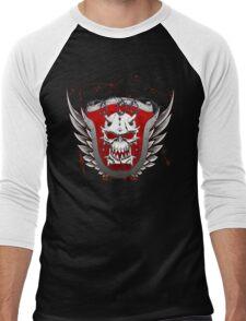 Heraldry Skull Shield Grunge Men's Baseball ¾ T-Shirt