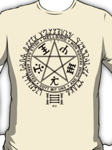 Anime - Hellsing Symbol (Black) T-Shirt