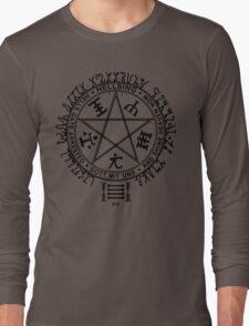 Anime - Hellsing Symbol (Black) Long Sleeve T-Shirt