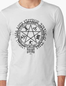 Anime - Hellsing Symbol (Black) Long Sleeve T-Shirt