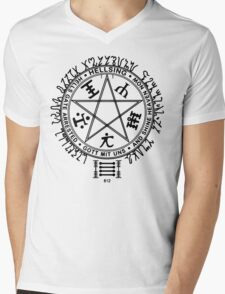 Anime - Hellsing Symbol (Black) Mens V-Neck T-Shirt