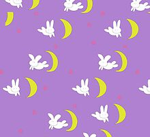 Sailor Moon Bedspread of bunny and cosmic love by eatorcs