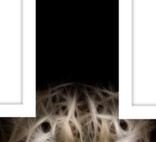 inverted cross Sticker