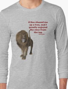 Lion Inspirational Confucius Quote Long Sleeve T-Shirt