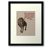 Lion Inspirational Confucius Quote Framed Print