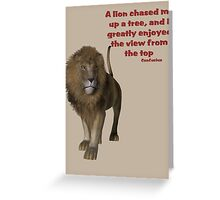 Lion Inspirational Confucius Quote Greeting Card