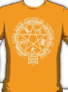 Anime - Hellsing Symbol (White)  T-Shirt