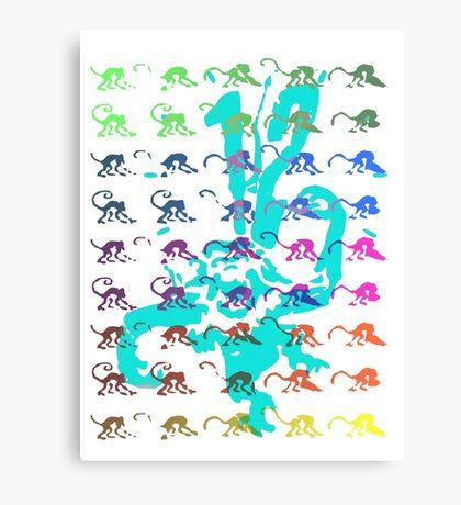 12 Monkeys - Rainbow Canvas Print