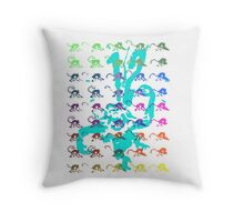 12 Monkeys - Rainbow Throw Pillow