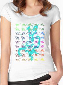 12 Monkeys - Rainbow Women's Fitted Scoop T-Shirt