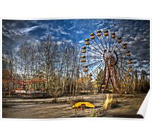 Prypiat/Chernobyl Abandoned Ferris Wheel Poster