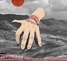 Hand Over Hills poster by evanbeltran