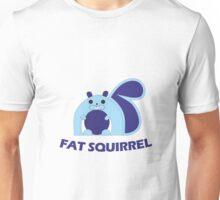 Fat Squirrel (blue) Unisex T-Shirt