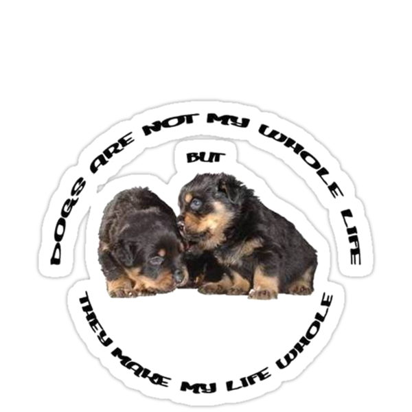 Dogs Make My Life Whole With Cute Rottweiler Puppies by taiche