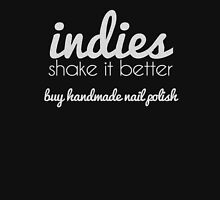 Indies Shake it Better - white design Womens Fitted T-Shirt