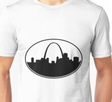 Oval St. Louis Silhouette Unisex T-Shirt