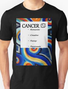 Abstract Cancer Horoscope Tee Shirt T-Shirt