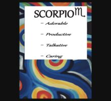 abstract scorpio horoscope shirt by K3LLIE3