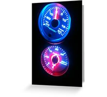 new gauges Greeting Card