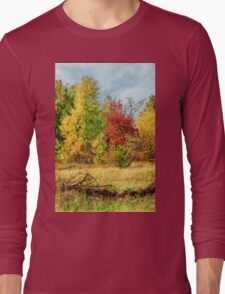 Walking in the autumn forest Long Sleeve T-Shirt
