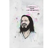Happy Jesus Photographic Print