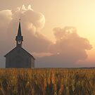 Prairie Church Sunset by Anthony Ross