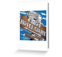 Chief Hotel Court Pop Style Greeting Card