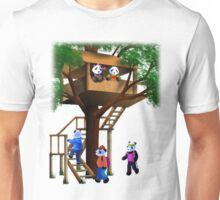 Panda Bear Tree House Unisex T-Shirt