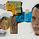 Cubo-Metaphysical Double Self-Portrait by Jósean Figueroa