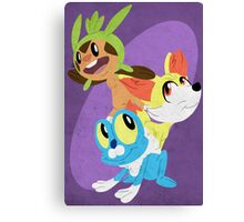 Gen VI Pokemon Starters Canvas Print