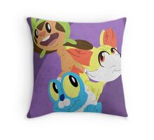 Gen VI Pokemon Starters Throw Pillow