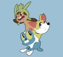 Gen VI Pokemon Starters Baby Tee